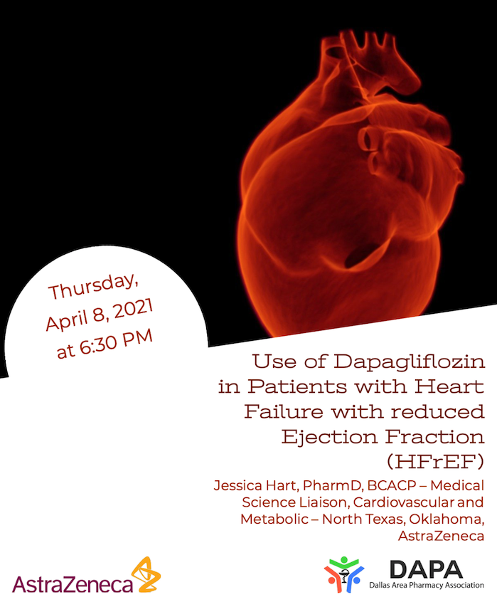 April 2021 DAPA Meeting – AstraZeneca – Use of Dapagliflozin in Patients with Heart Failure with reduced Ejection Fraction (HFrEF)